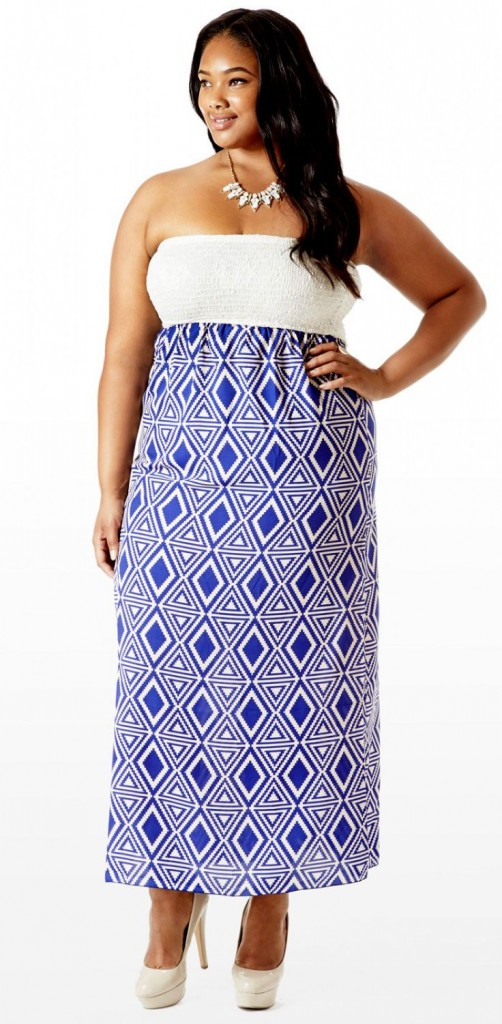 maxi dress shirred bust