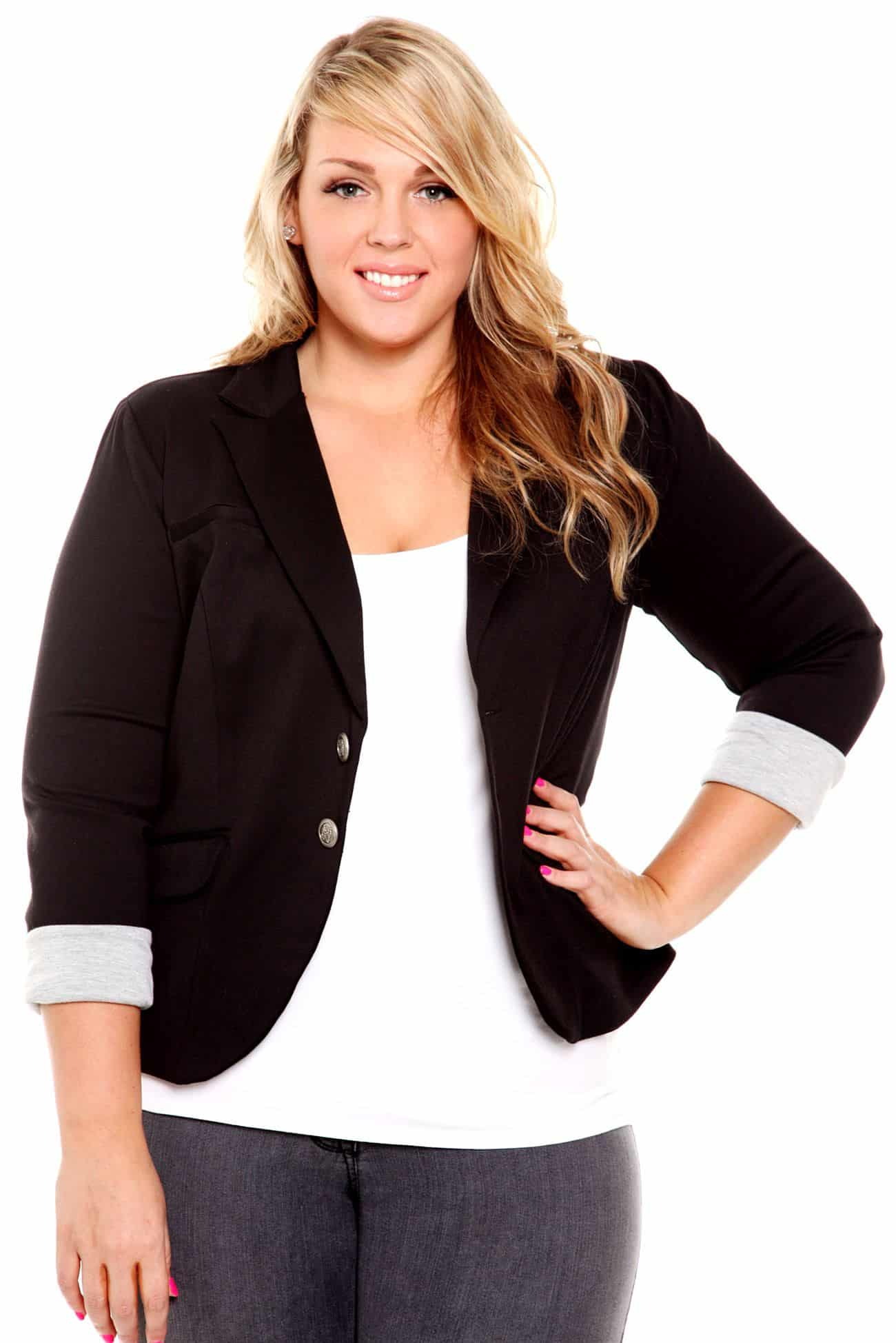 How to Perfectly Measure Yourself for Plus Size Blazers