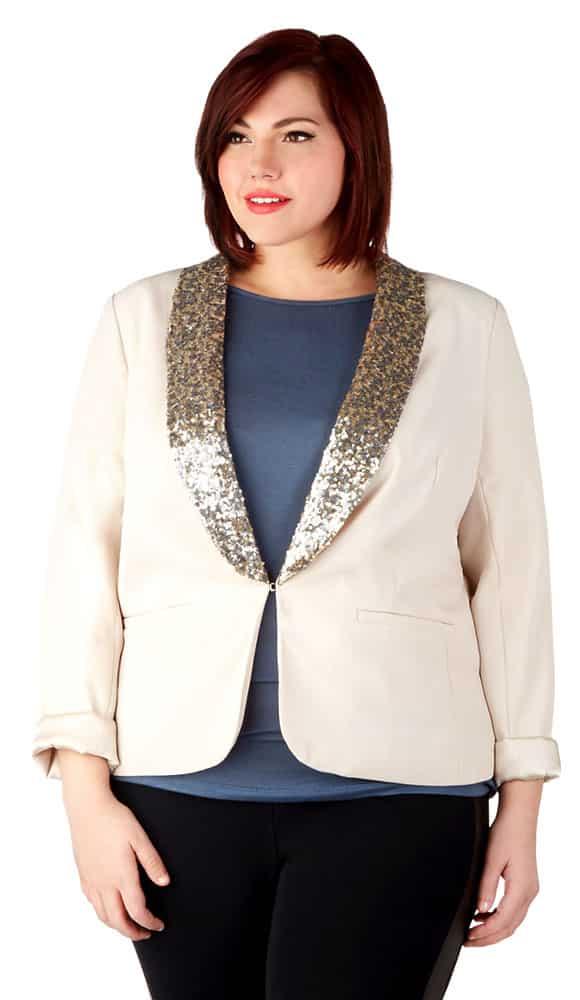 blazer silk sequins