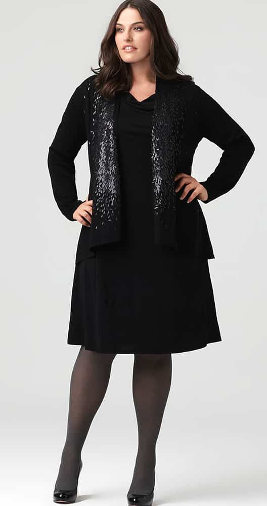 sequined holiday cardigan