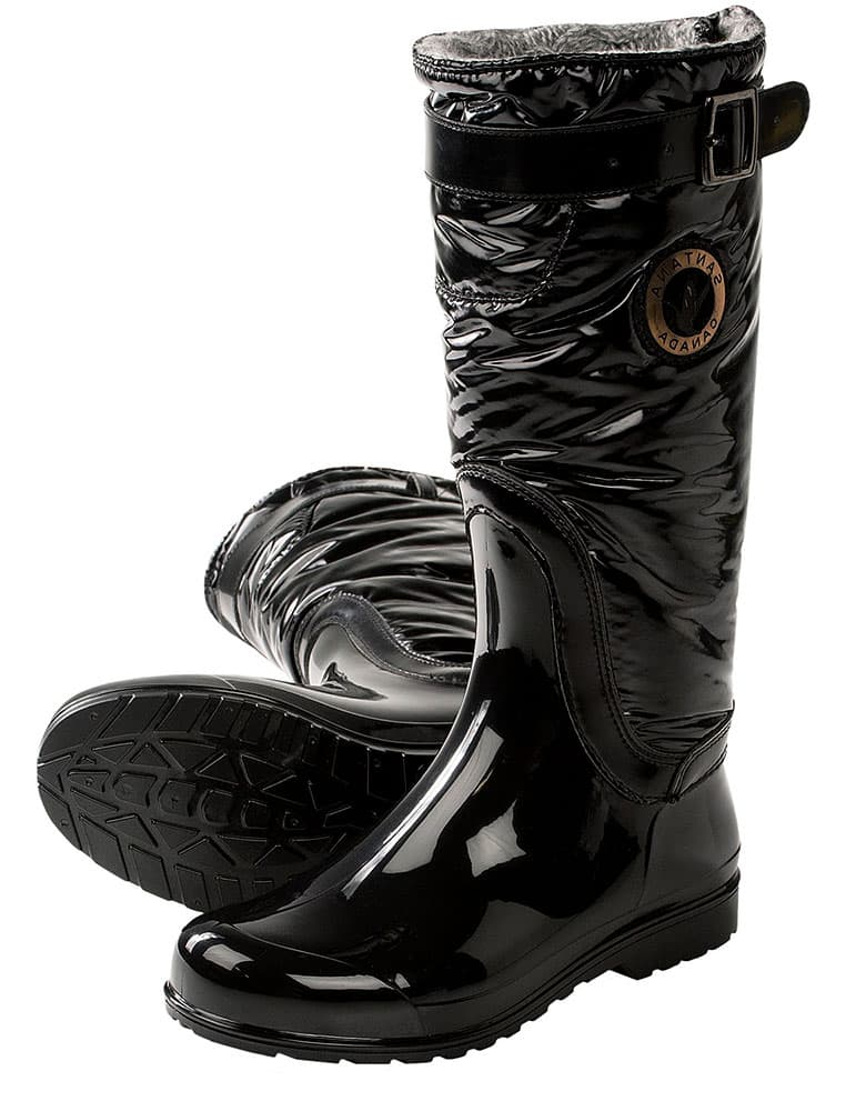 Tall winter gumboots