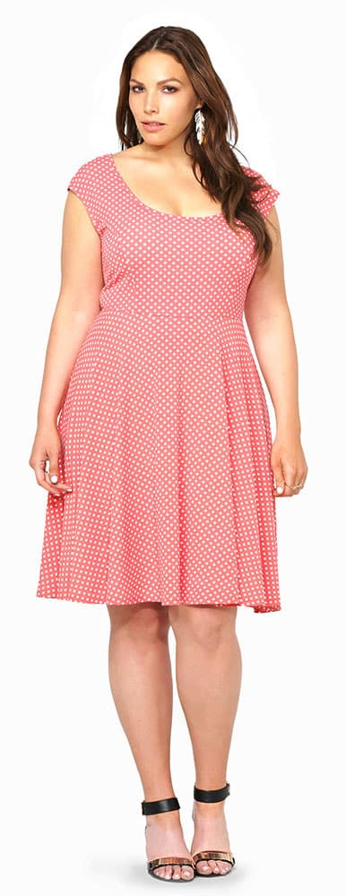 Polka Dotted Skater Dress