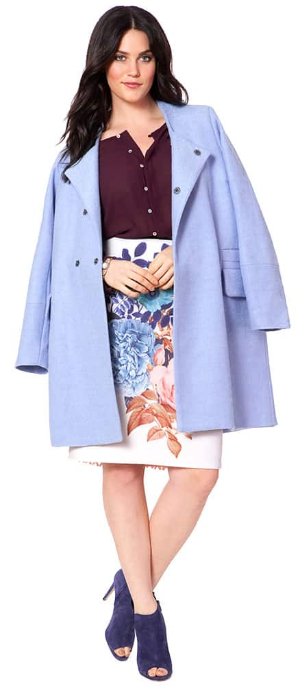 Light Blue Plus Size Jacket