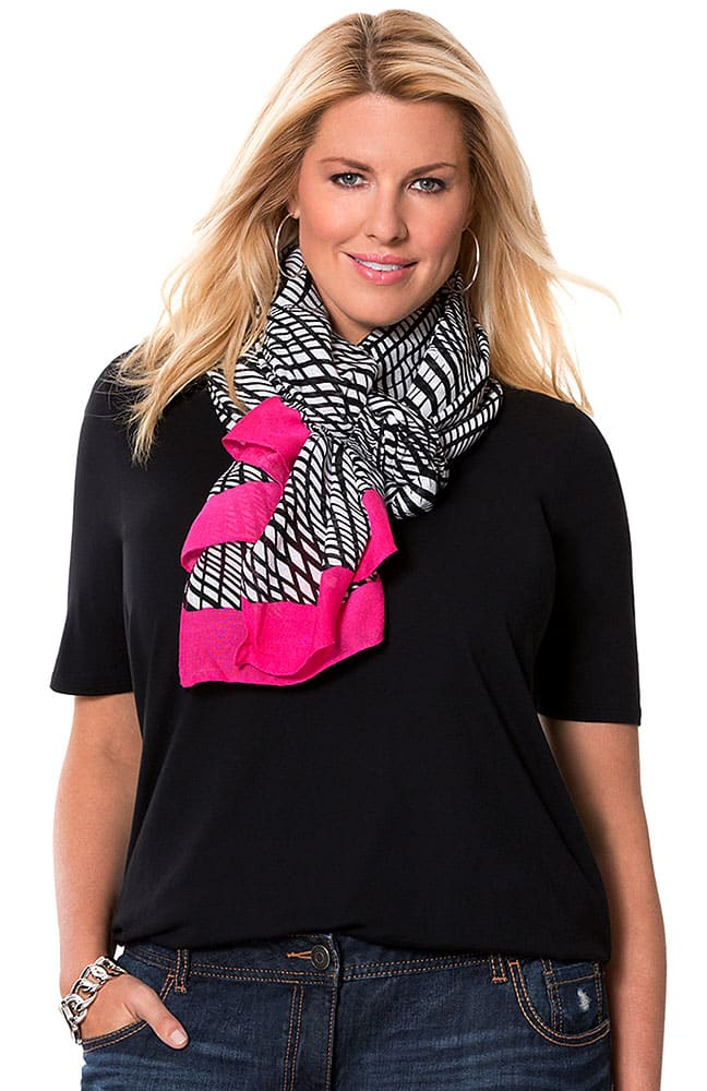 Black and White and Pink Scarf