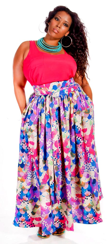 Fashion style Skirt maxi outfits plus size for girls