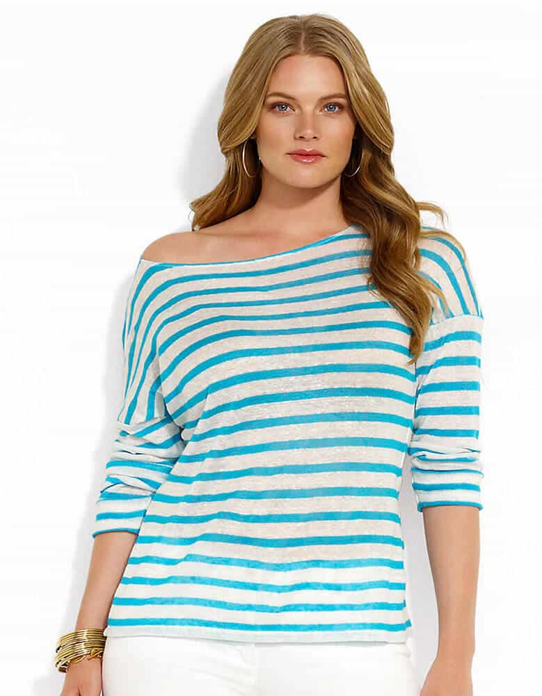 linen striped long sleeve