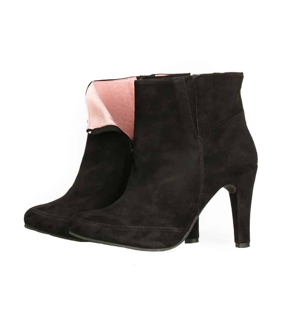 ankle boots pink interior