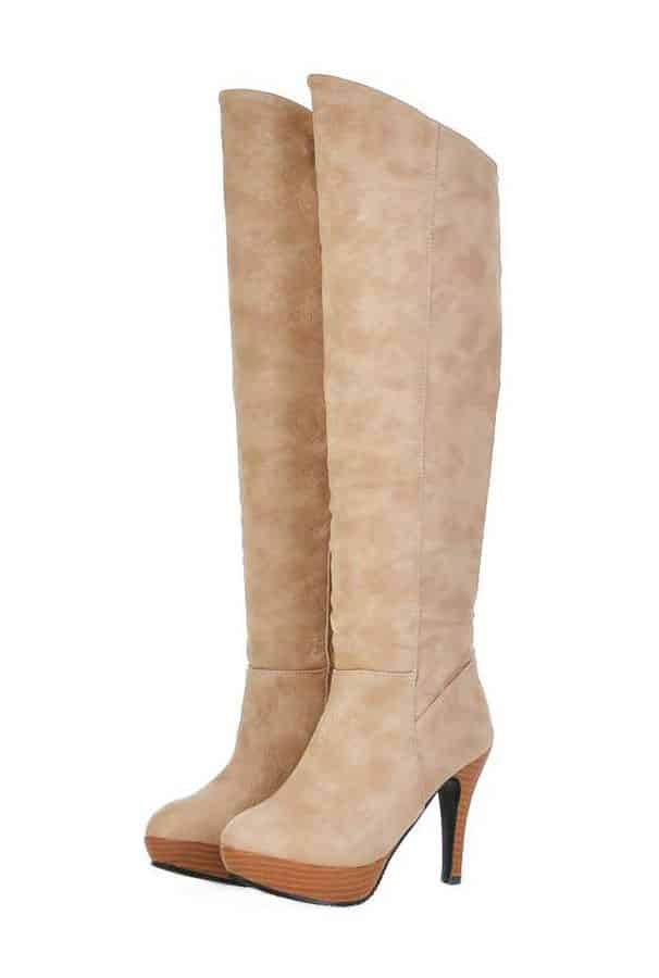 tall boots suede