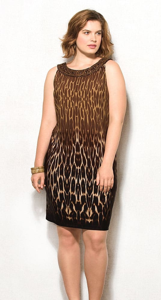 animal print sleeveless dress
