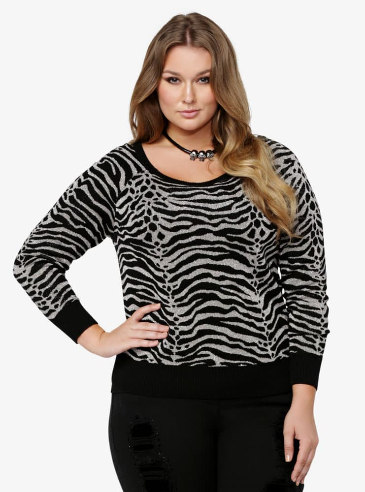 animal print zebra top