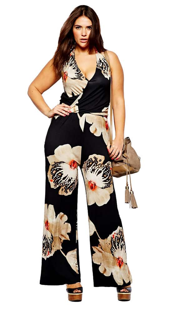 black floral jumpsuit