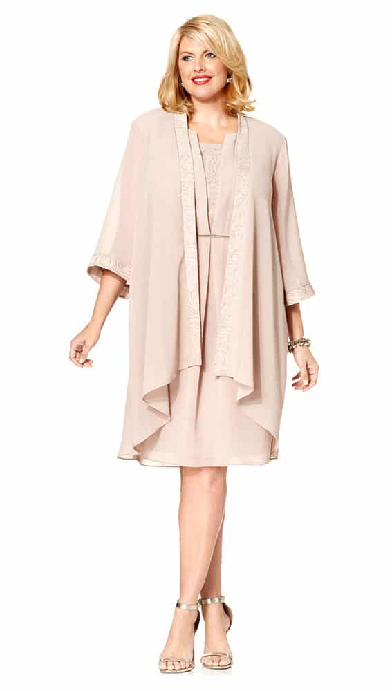 chiffon dress and jacket