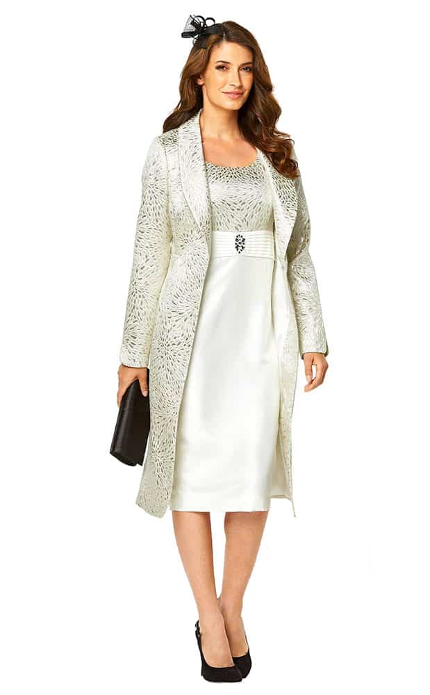 jacquard dress matching jacket