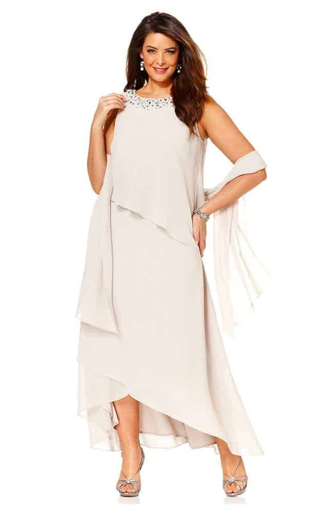 light chiffon dress
