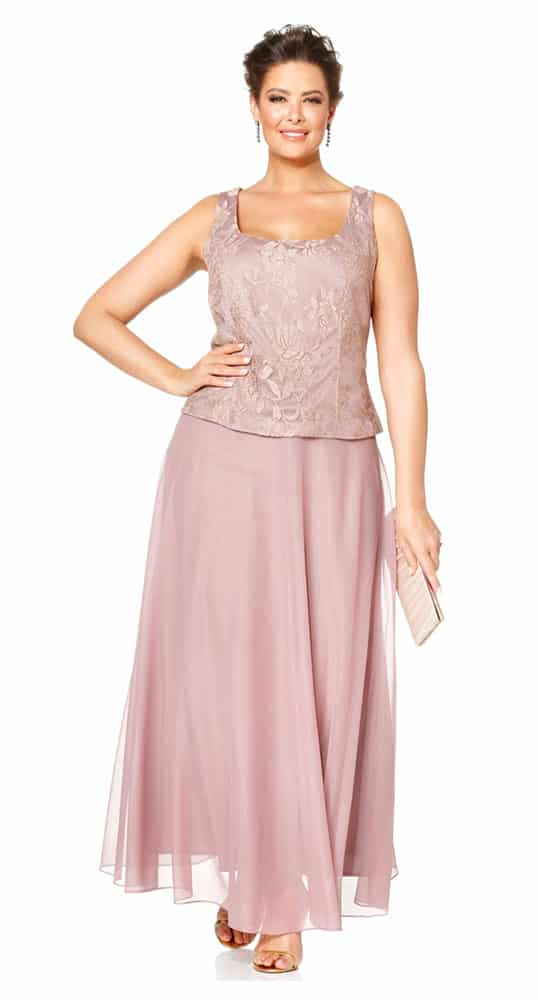 lilac chiffon two piece