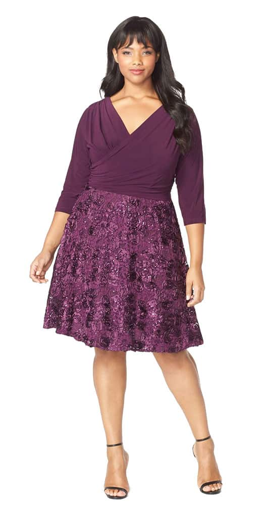 mauve cocktail dress