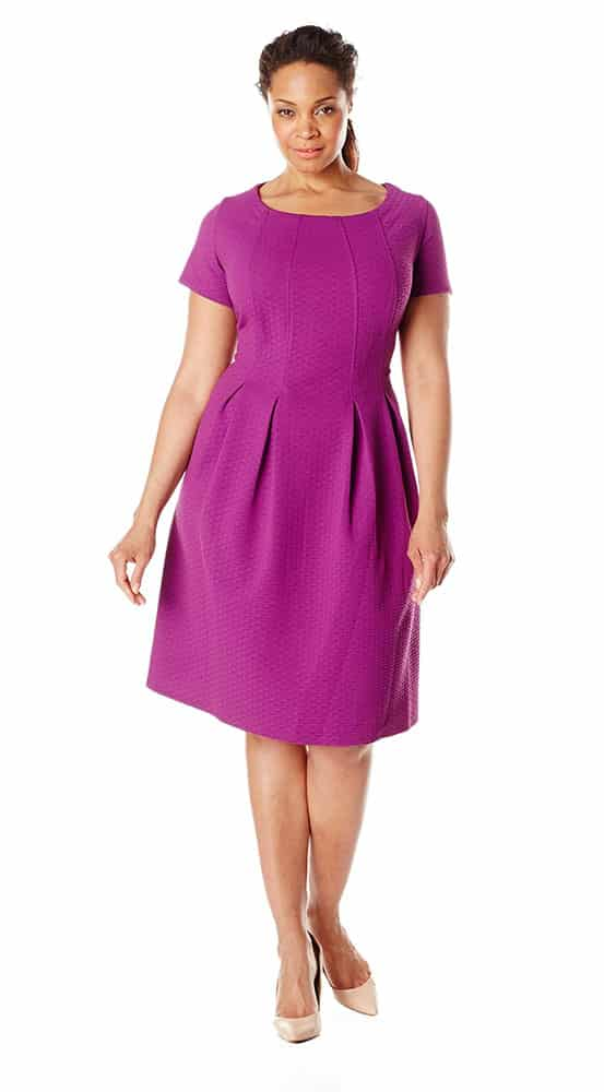 purple dressy casual dress
