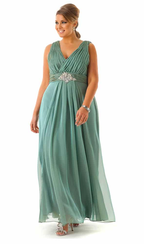seafoam chiffon dress