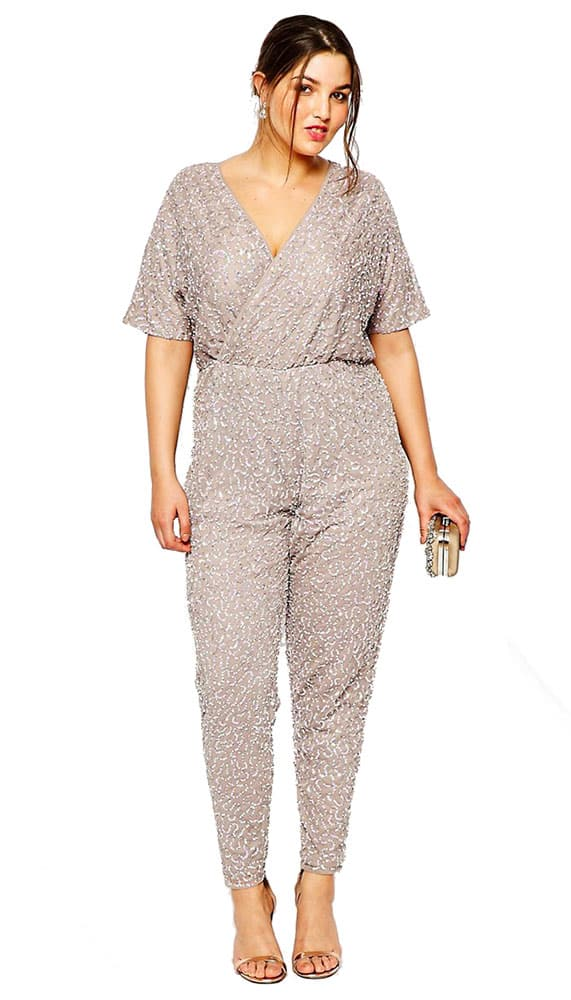 sequined formal jumpsuit