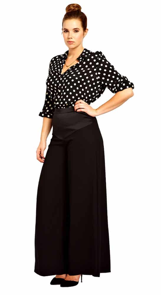 wide leg pant and blouse