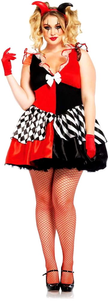 A scary guide to plus size halloween costumes curvy guide court jester do it yourself costume solutioingenieria Image collections