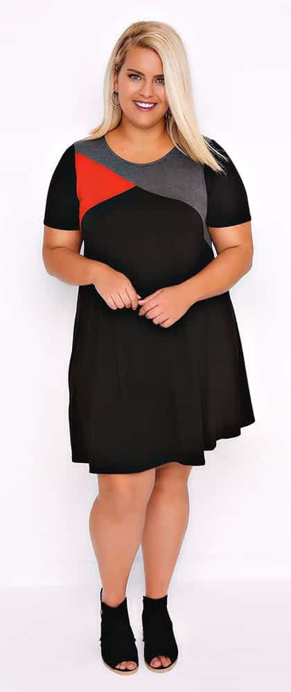 Colorful Plus Size Dress 02