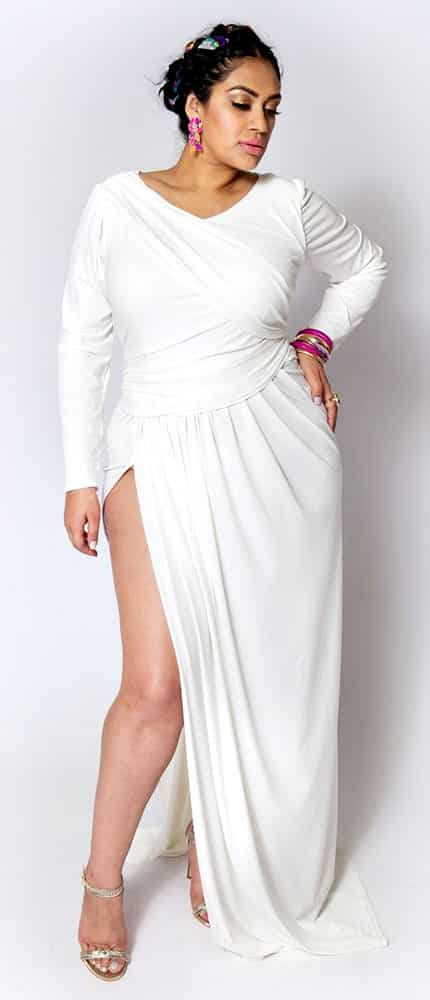 Full Length Plus Size Club Dresses 02