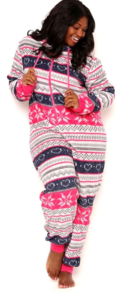 8ed10824af Plus Size Sleepwear Winter 03 Totally Pink Women s Plus Size Warm and Cozy  Plush Adult Onesie