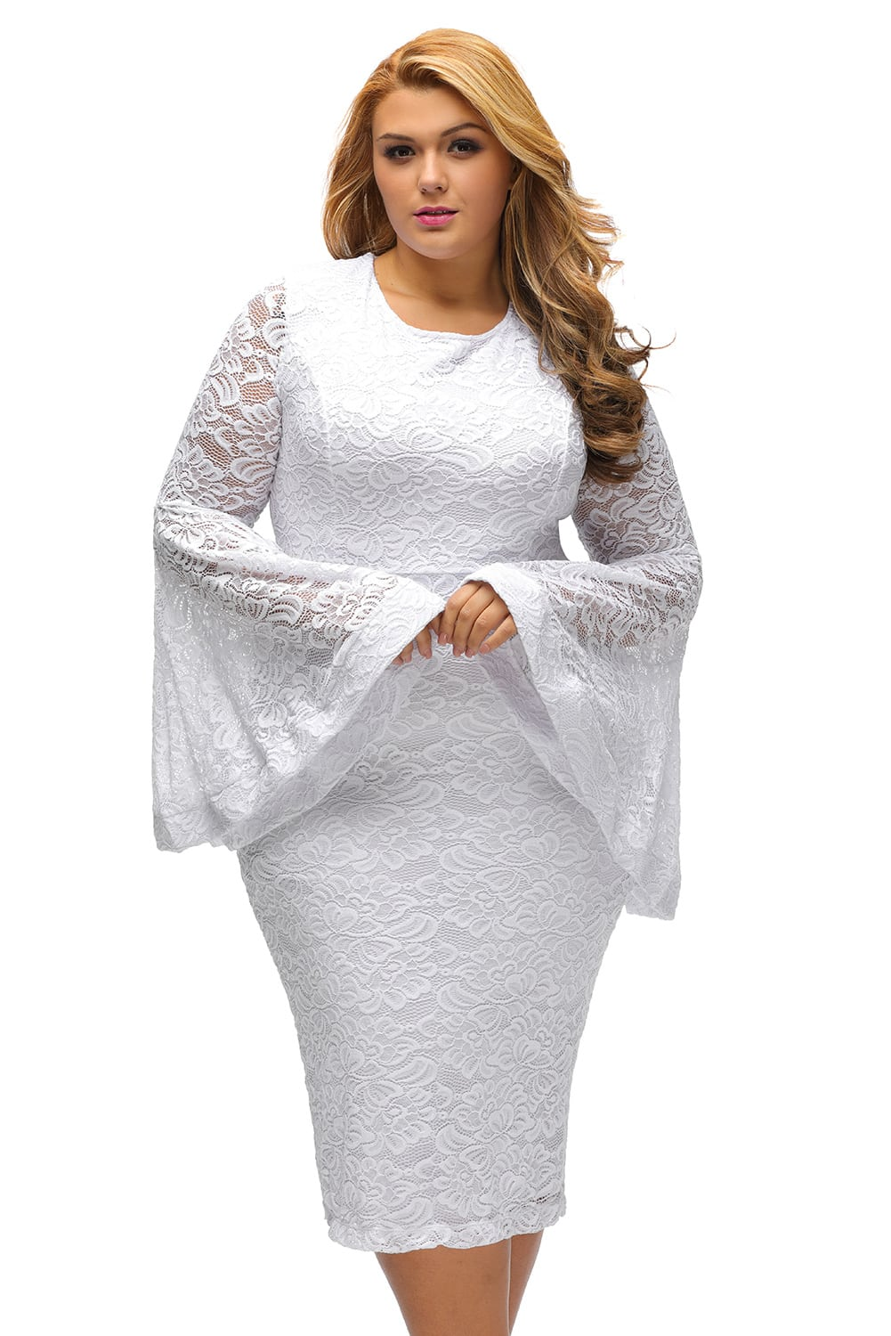 White Dress With Sleeves