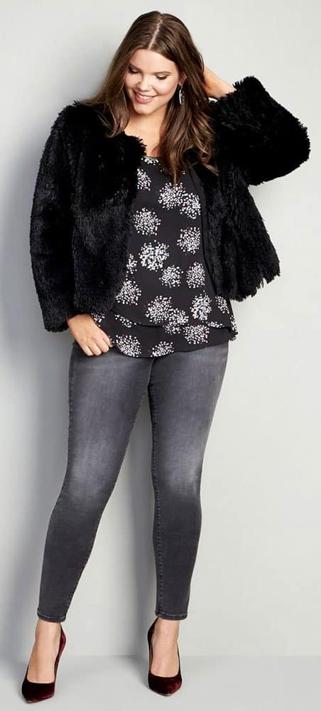 Plus Size Black Jeans 01