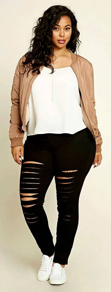 Plus Size Black Jeans 03