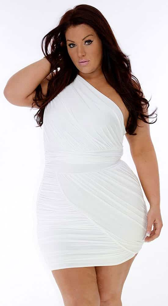 Plus Size Bodycon White Dress 02