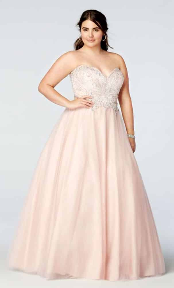 Plus Size Evening Gowns for Apple Body Shape 02