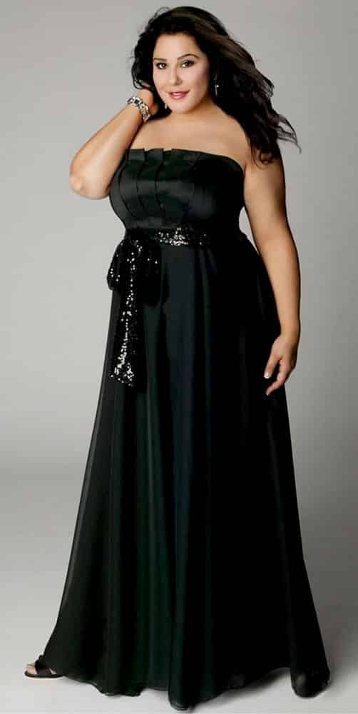 Plus Size Evening Gowns for Apple Body Shape 03