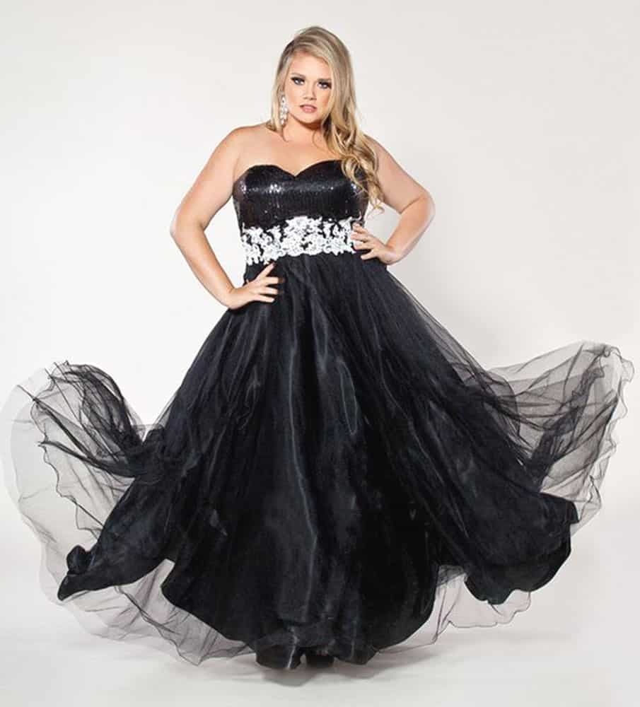 Plus Size Evening Gowns for Hourglass Body Shape 02