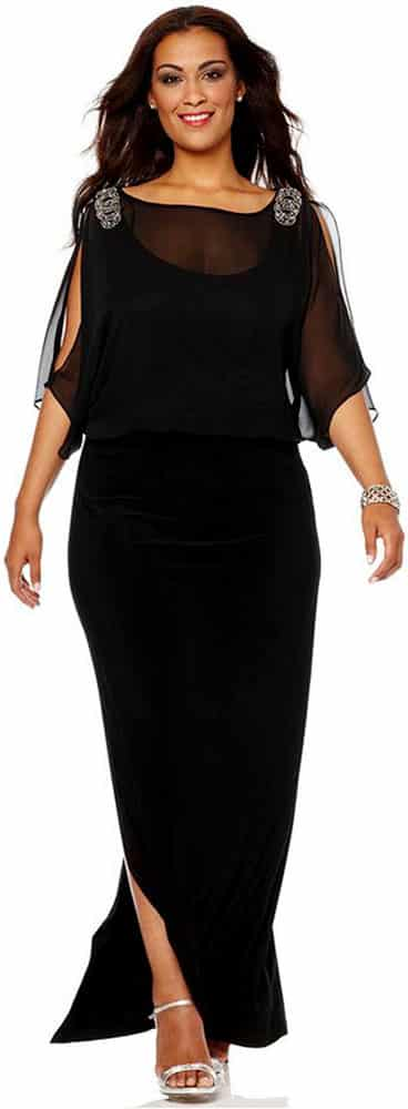 Plus Size Evening Gowns for Hourglass Body Shape 03