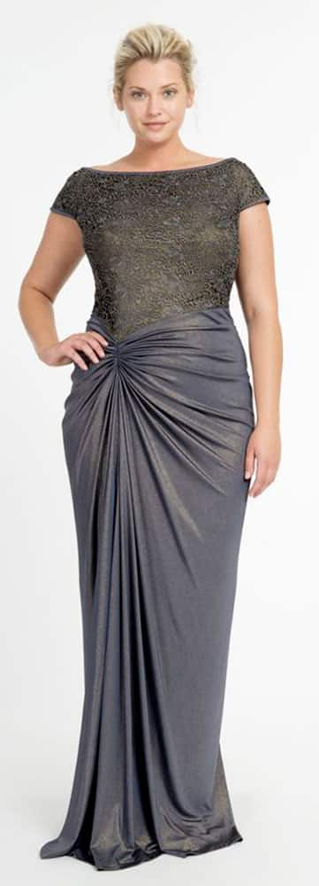 Plus Size Evening Gowns for Inverted Triangle Body Shape 01