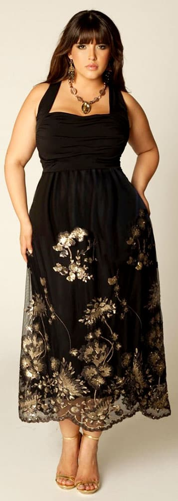 Plus Size Evening Gowns for Inverted Triangle Body Shape 03