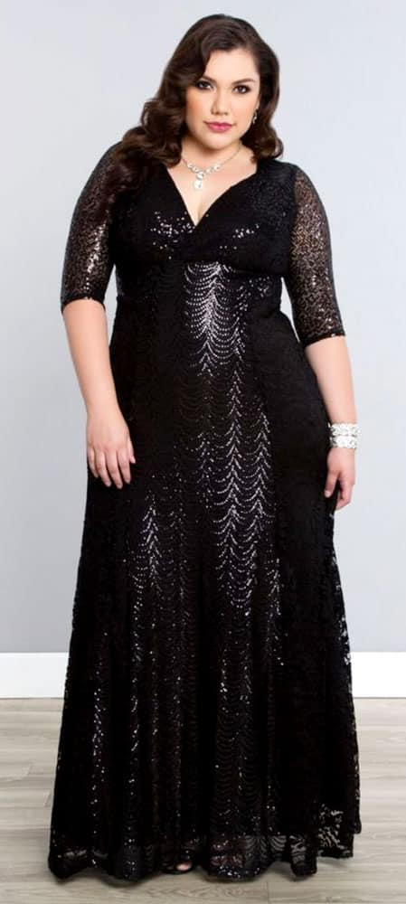 Plus Size Evening Gowns for Pear Body Shape 01