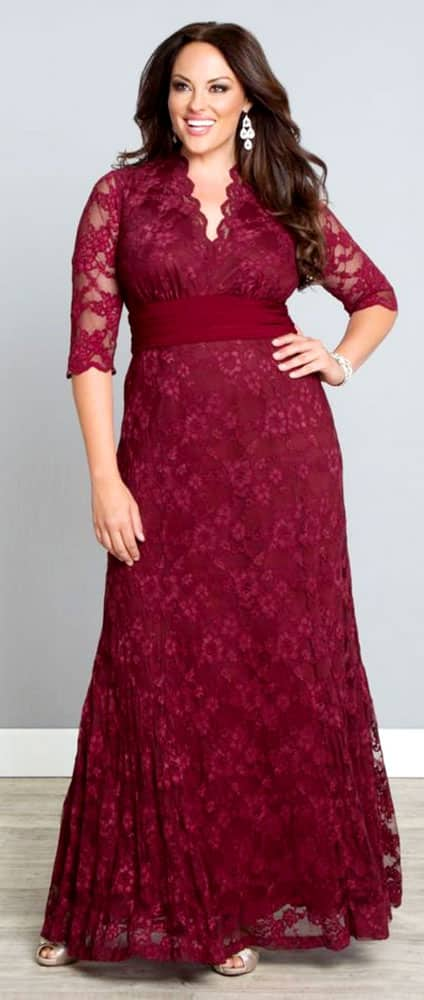 Plus Size Evening Gowns for Rectangle Body Shape 01