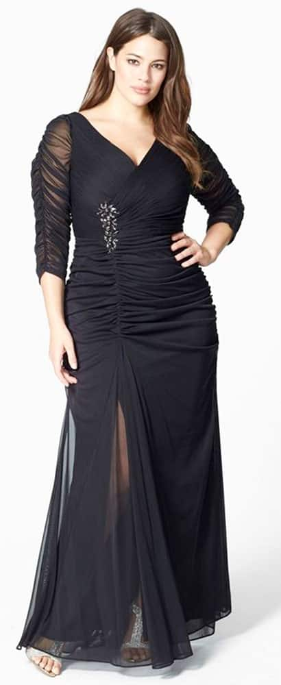 Plus Size Evening Gowns for Rectangle Body Shape 03