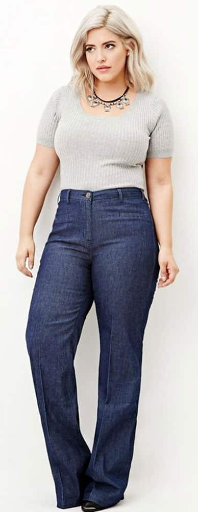 Plus Size High Waisted Jeans 02
