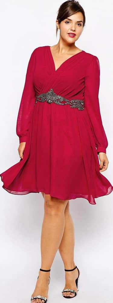 Dresses velvet, red, green, long-sleeve, sparkles 01