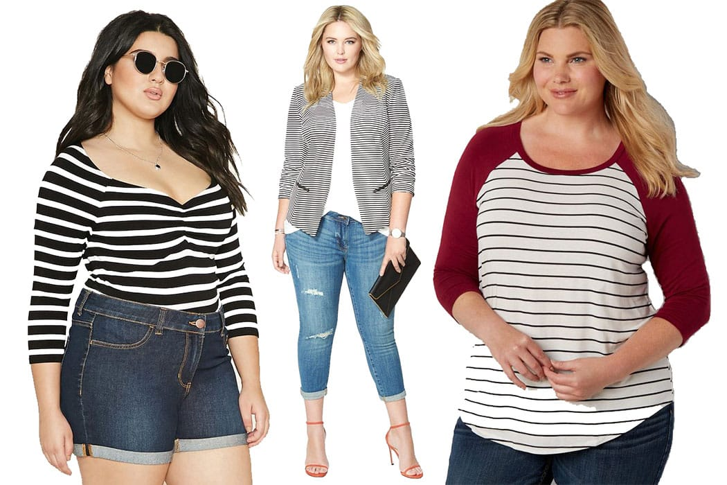 How Plus Sizes Can Wear Stripes