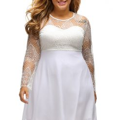 White Boohoo Lace Top Skater Dress