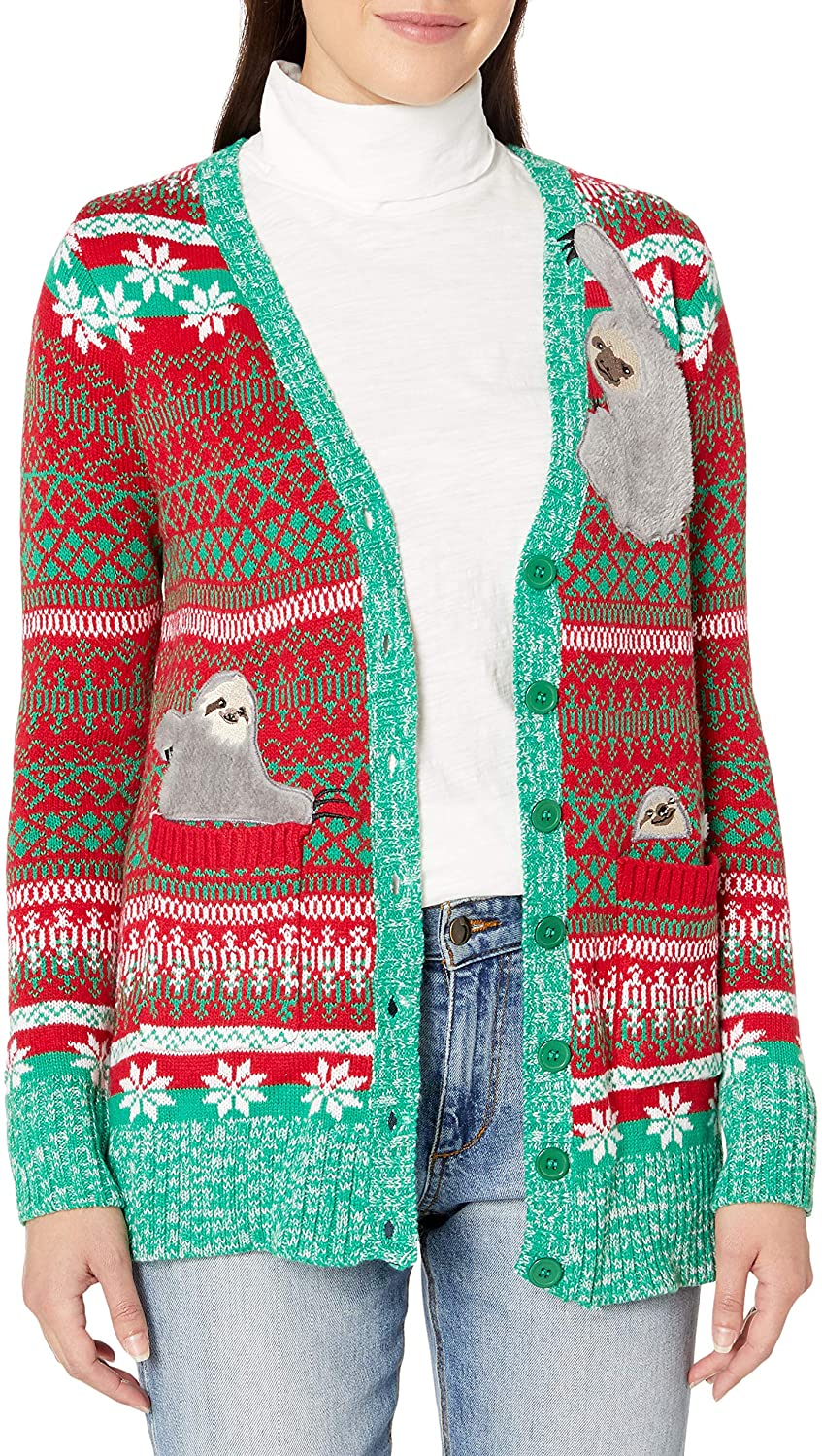Plus Size Christmas Cardigan 02
