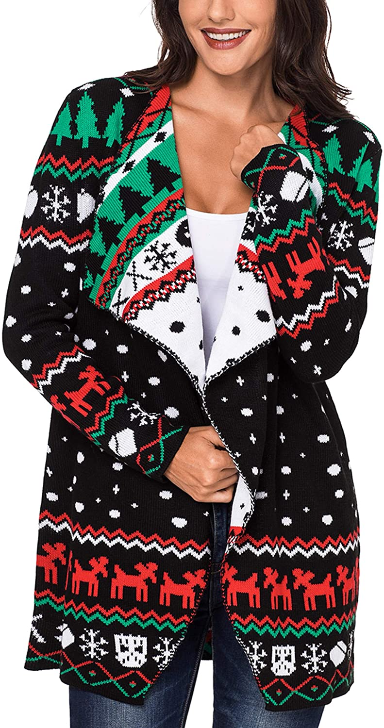 Plus Size Christmas Cardigan 03