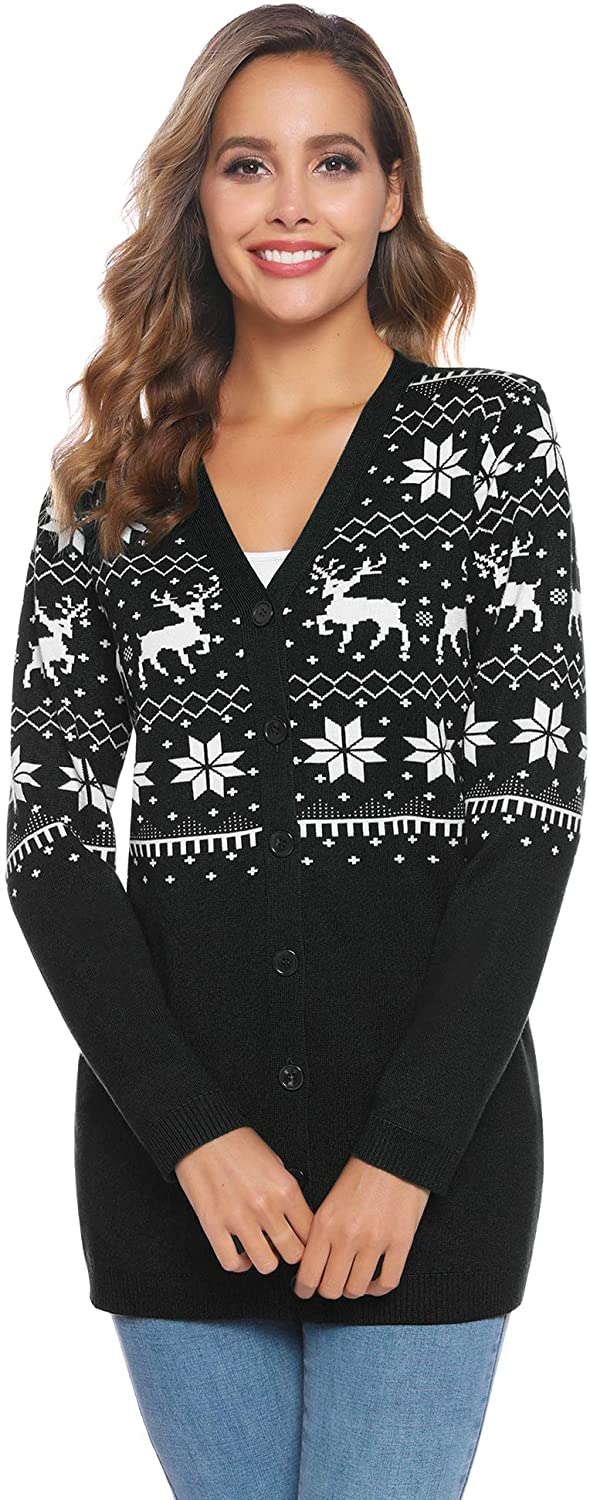 Plus Size Christmas Cardigan 09