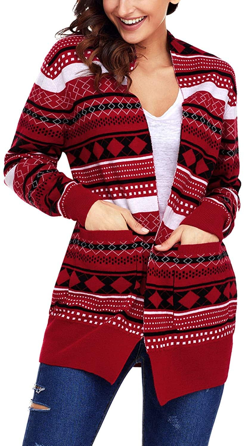 Plus Size Christmas Cardigan 11