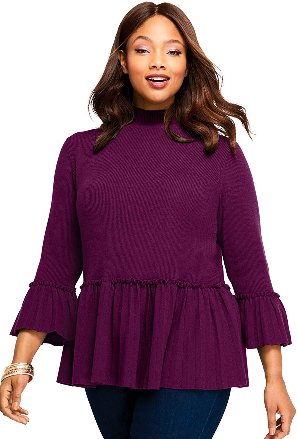 Plus Size Knit Ensemble 02